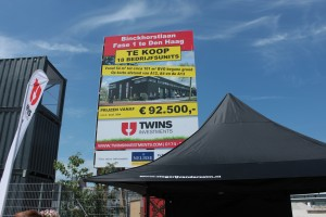 Foto eerste paal nieuwbouw Binckhorst 04.06.2015